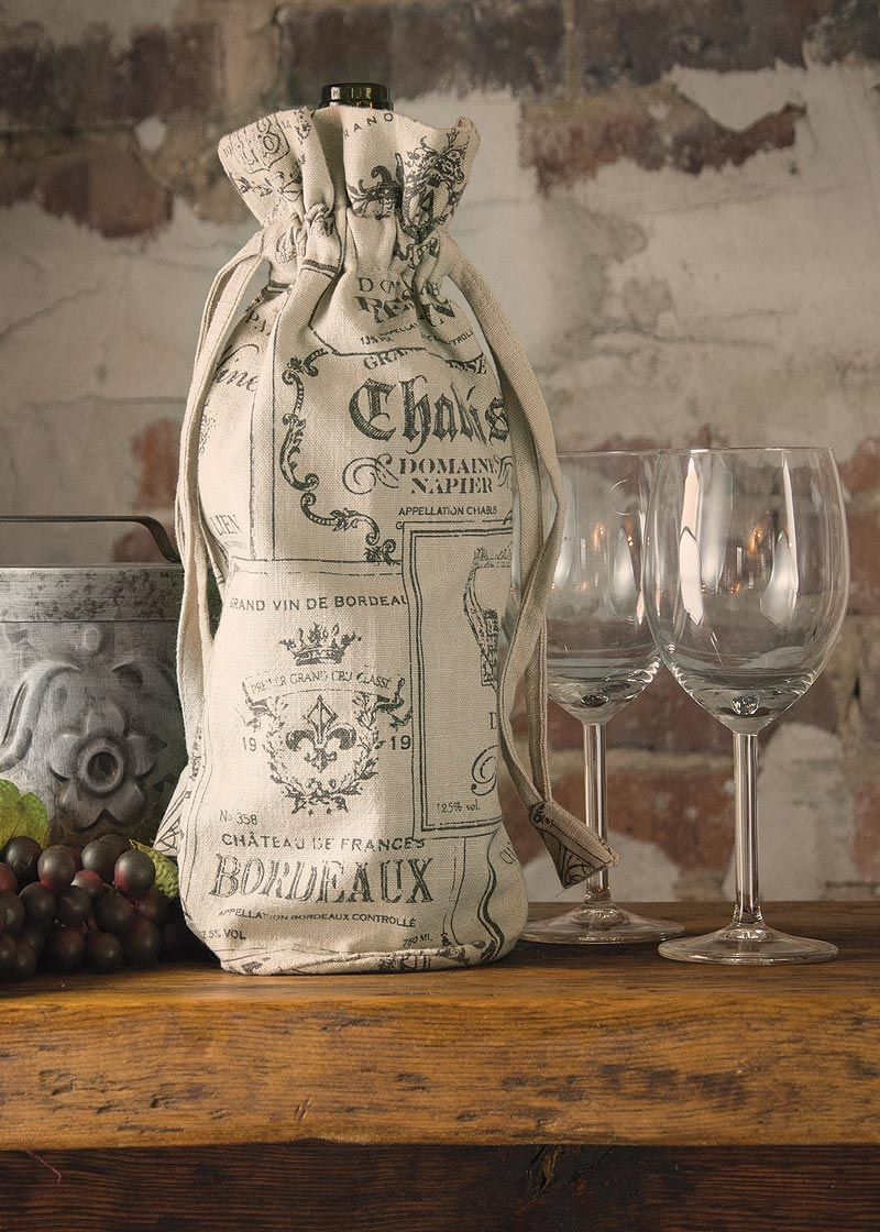 Show off your Downton Abbey spirit our this reusable Wine
