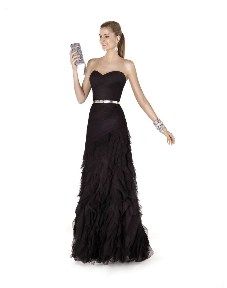 Pronovias Evening Dress / Gown - Ruched long dress with sweetheart ...