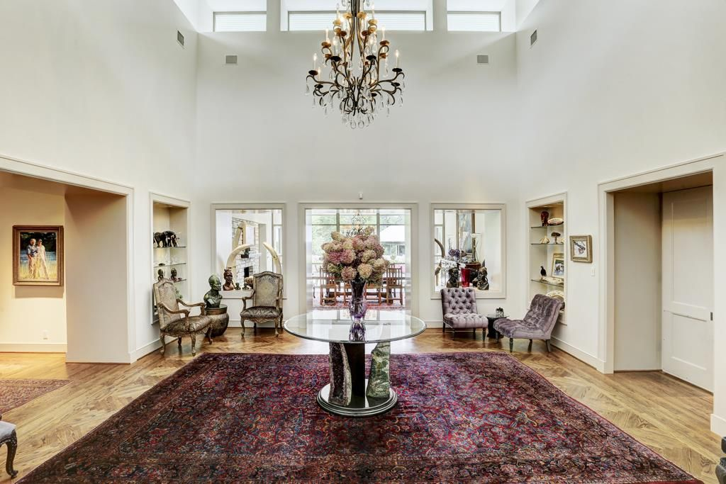 Clerestory windows. Two story grand reception room. Memorial Villages Houston TX Real Estate - 2210 South Piney Point Rd