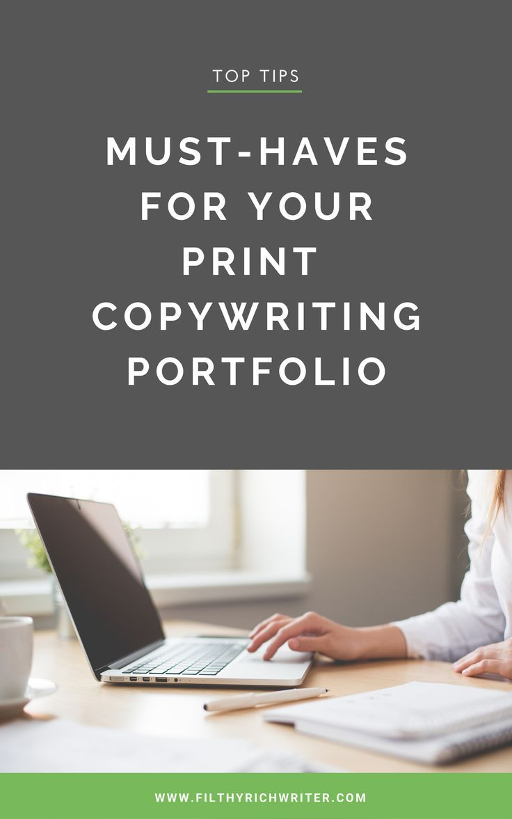 MustHaves for Your Print Portfolio Copywriting