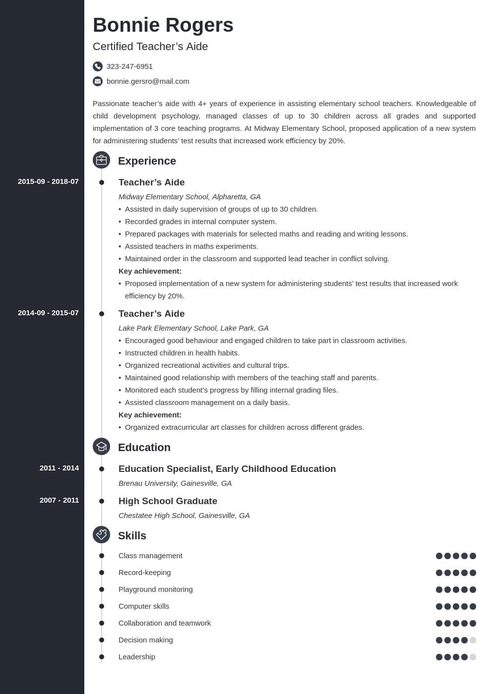 Teacher Aide Resume Example Template Concept Teacher Resume Examples Dentist Resume Medical Coder Resume