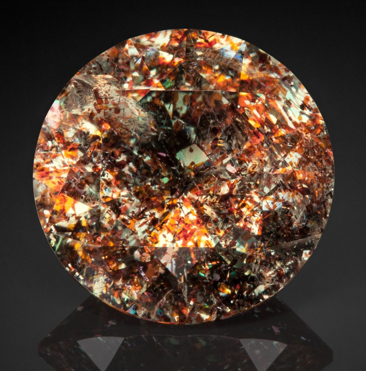 Hyalophane with hematite Inclusions, Madagascar