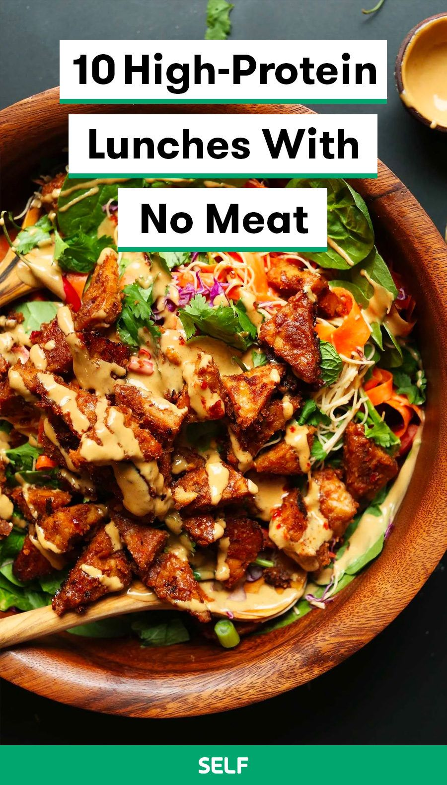 10 High Protein Lunches With No Meat In 2020 High Protein Vegetarian Recipes Protein Lunch Protein Packed Meals