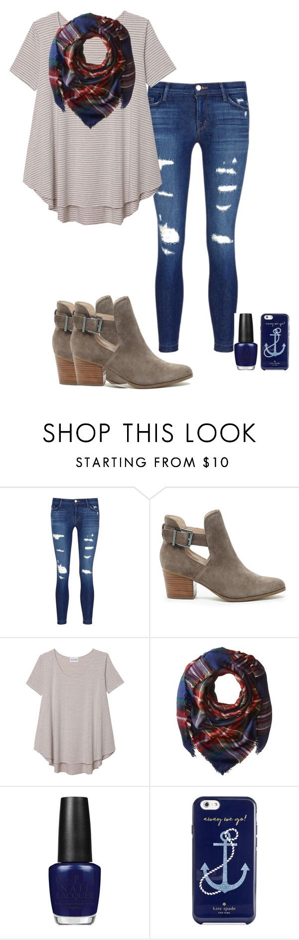 """""""PLEASE LIKE!"""" by amaya-leigh ❤ liked on Polyvore featuring J Brand, Sole Society, Olive + Oak, Steve Madden, OPI and Kate Spade"""