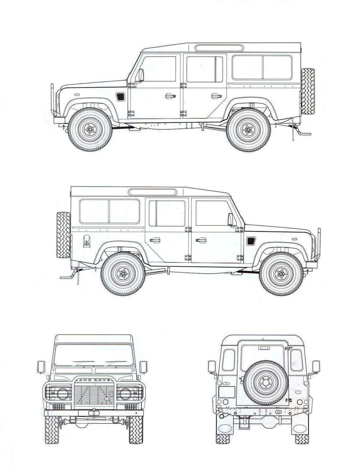 Land Rover Defender Blueprint In