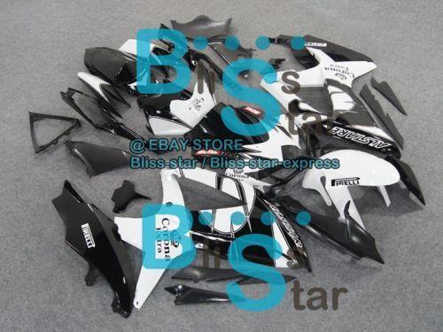 White decals GSXR600 Fairing Fit SUZUKI GSX-R600 GSX-R750 2009 2008-2010 014 A4