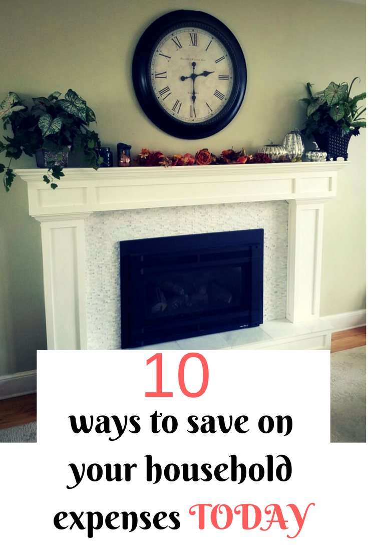 "As a family of 5, living on one income I share ""10 ways to save on your household expenses"" that will save you hundreds every month."