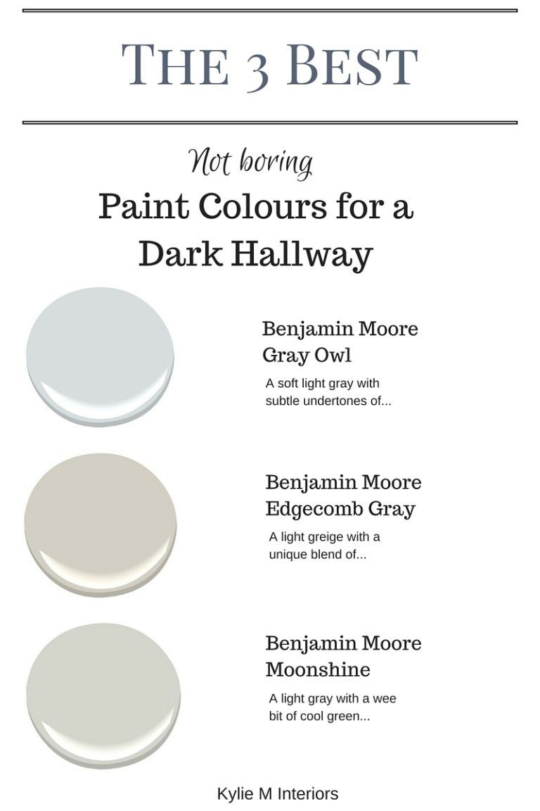 Hallway colour ideas 2018  The  Best NOT BORING Paint Colours to Brighten Up a Dark Hallway in
