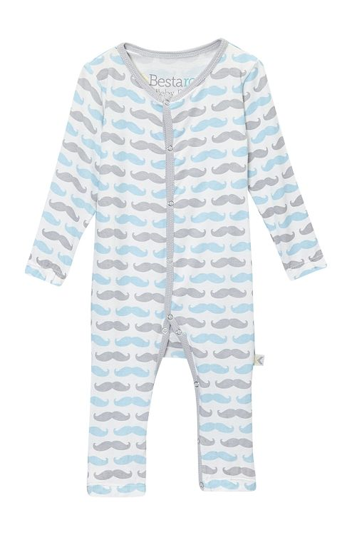 Long Sleeve Mustache Coverall