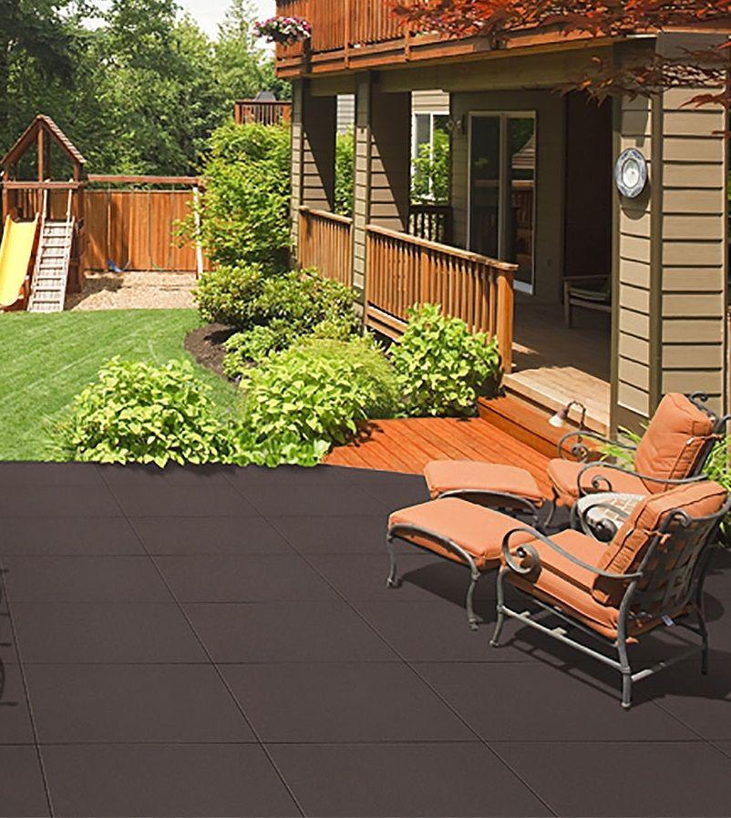 Luxury 15mm Garden Rubber Floor Tiles