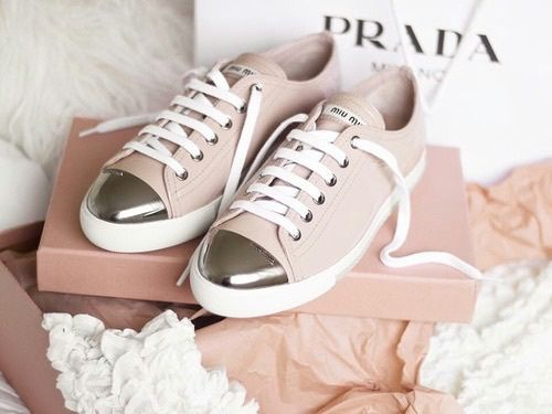 Prada Shoes And Pink Image Snicker Shoes Shoes Sneakers