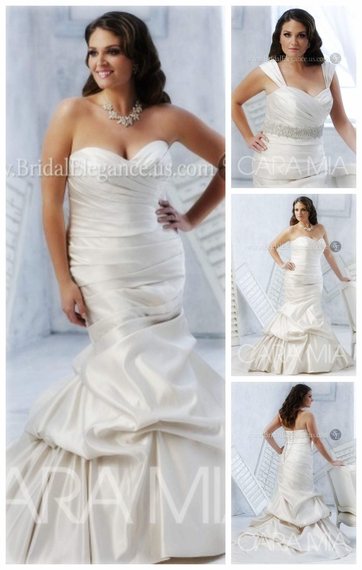 221541 Is A Perfect Plussize Wedding Gown Pair With Belt Or Leave Plain