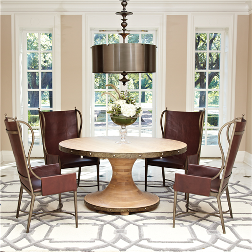 Global Views Plank Dining Table Aesthetic Dining Table
