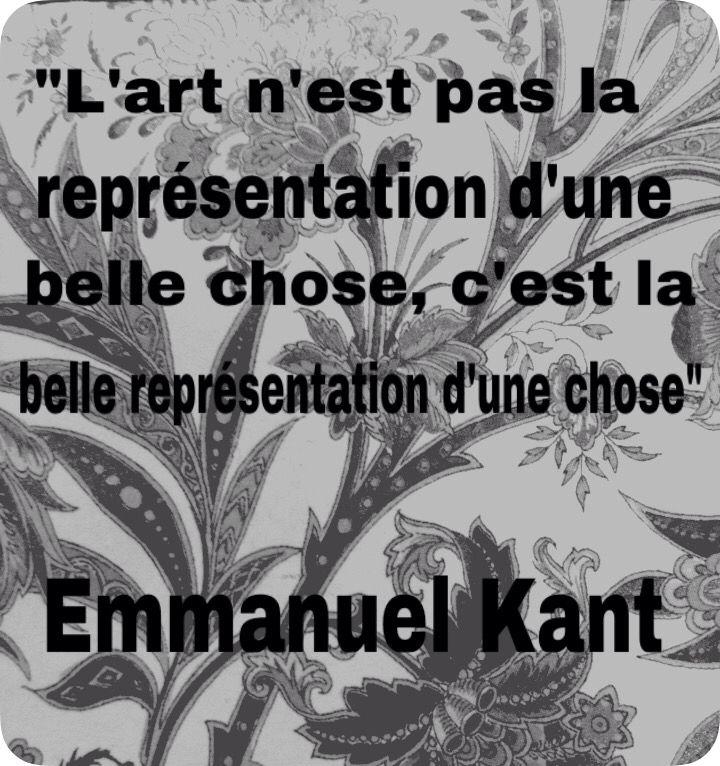Réflexion de Kant sur l'art...