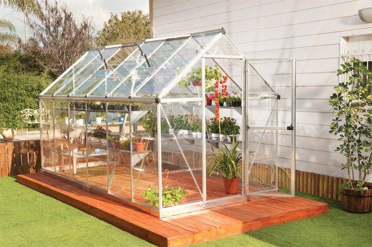 Serre De Jardin Polycarbonate Gaya Argent 6x12 Chalet Jardin Serre De Jardin Ser Backyard Greenhouse Outdoor Greenhouse Cold Frame Greenhouse