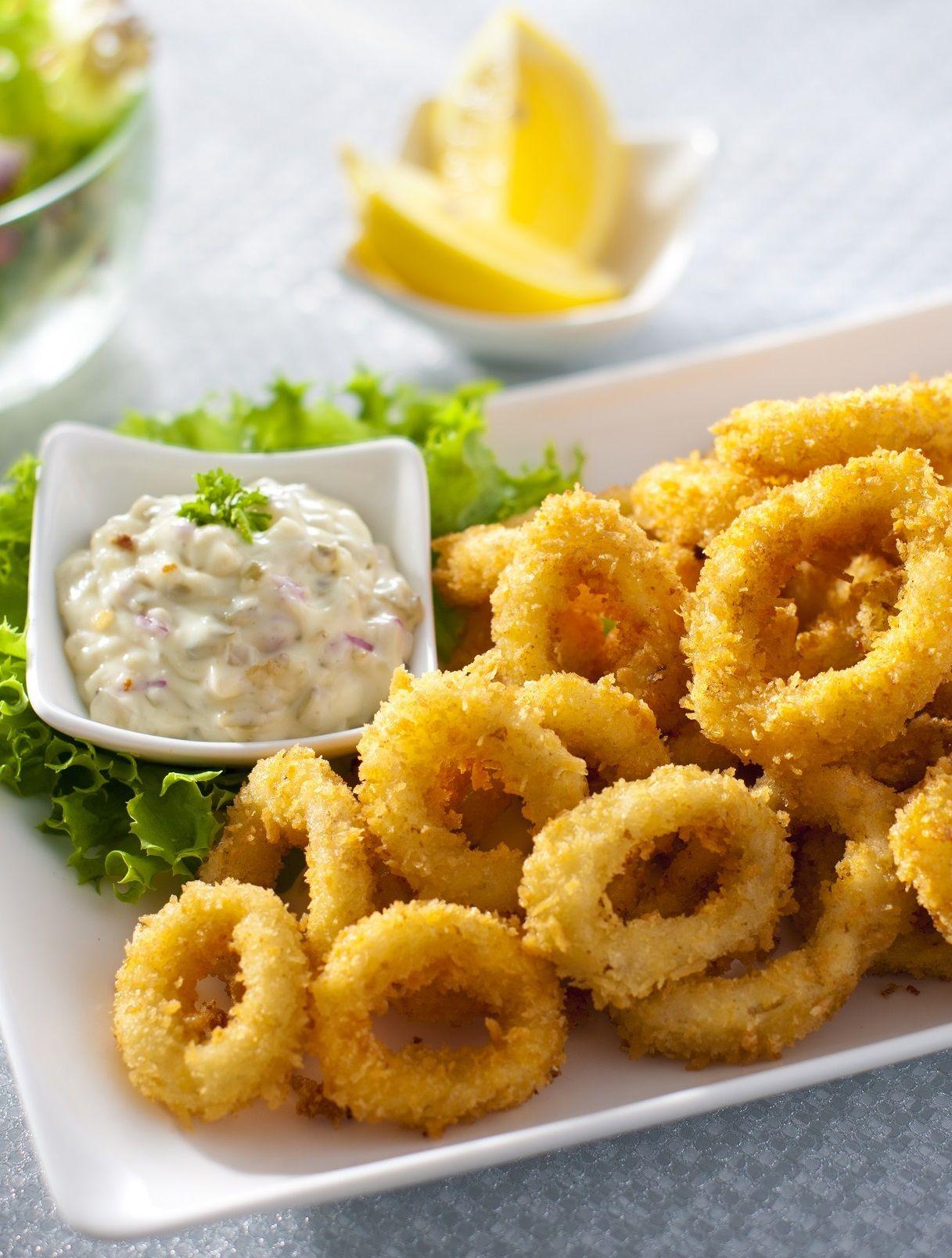 Fried Calamari (With images) Fried calamari, Fries, Food