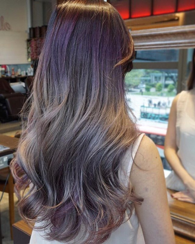 A blend of smoky lavender and silver creates this one-of-a-kind color design. Subtle highlights add depth and dimension to further elevate the style.