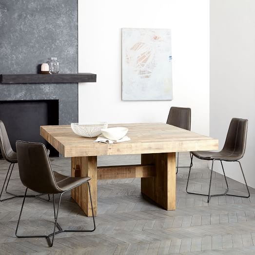 Emmerson 174 Reclaimed Wood Square Dining Table 60 Quot Sq Square Wood Dining Tables Glamourous Dining Room Reclaimed Dining Table