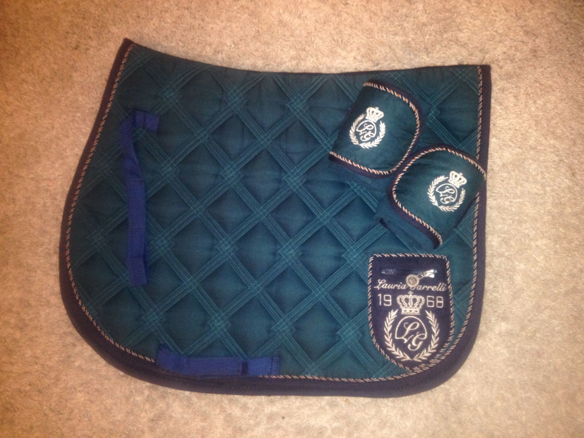 Lauria Garrelli Majestic petrol Saddle Pad + Bandages
