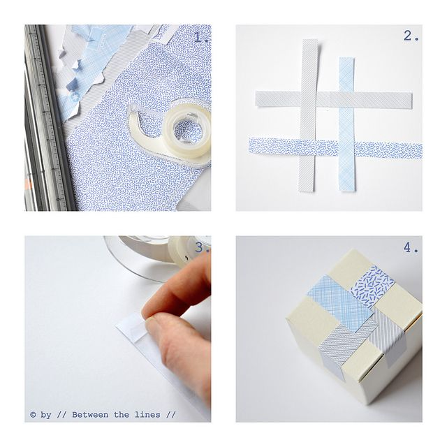 DIY Japanese masking tape by // Between the Lines //, via Flickr  ...so easy, why didn't I think of this?