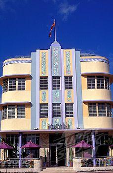 Usa Florida South Beach Miami Art Deco