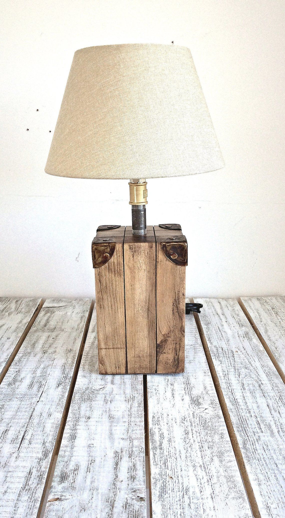 Lampe De Chevet Lampe De Table Lampe Bois Lampe De Bureau Etsy Table Lamp Wood Wood Lamp Base Bedside Lamp