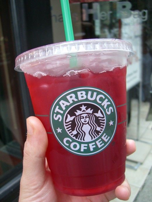 The distinctively red Passion Iced Tea.