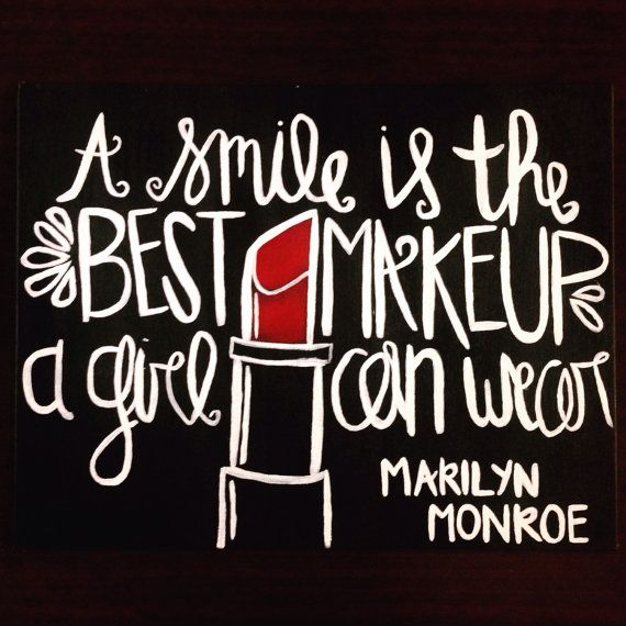A Smile Is The Best Makeup A Girl Can Wear Canvas Quote Art Wall