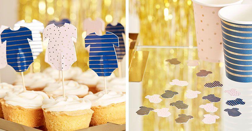 Setze Auf Den Baby Body Als Susses Motiv Auch Fur Cake Topper Und Streudeko Zwillinge Bekommen Party Junge Oder Madchen