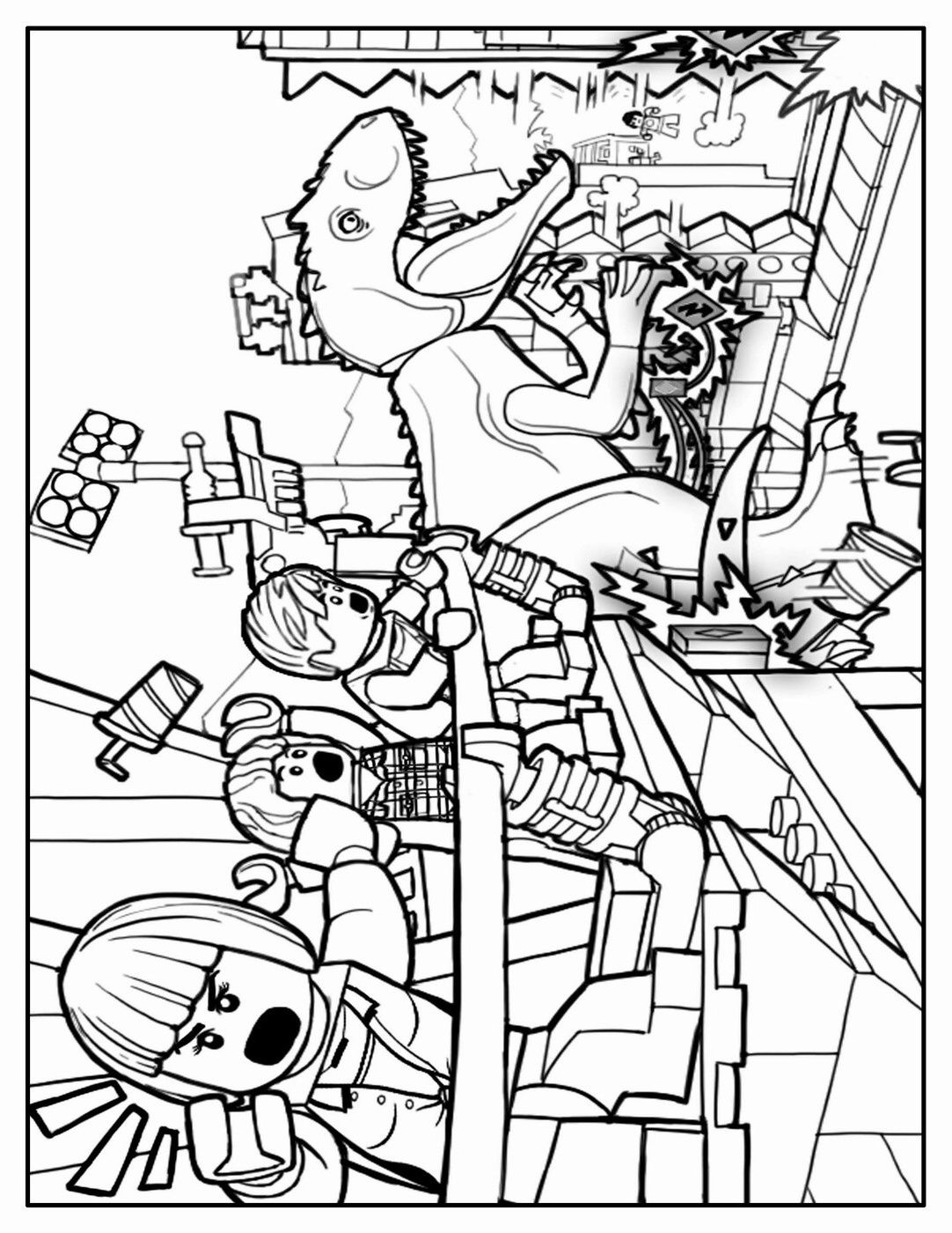 Lego Jurassic World Coloring Pages Coloring Pages  Coloriage