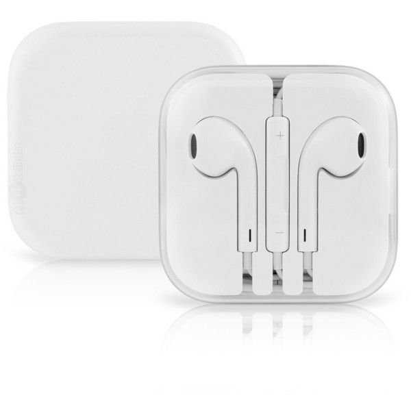 Apple EarPods with Remote and Mic White (£7.61) ❤ liked on Polyvore featuring accessories, tech accessories, white earbuds, iphone earbuds and apple iphone earbuds