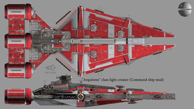 Arquitens Class Light Cruiser From Star Wars 3d Model Max 20 Star