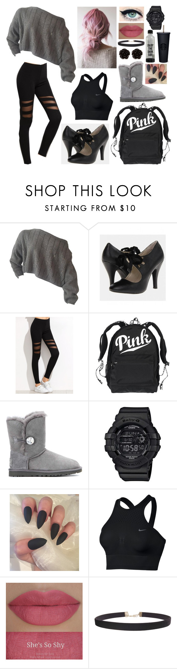 """""""Dance practice 4"""" by livylash ❤ liked on Polyvore featuring Victoria's Secret, UGG, Casio, NIKE, Humble Chic and Erica Lyons"""