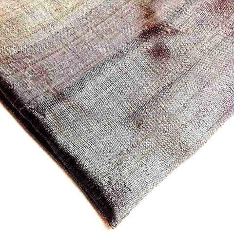 Steel Grey Dupioni - Pure Raw Silk Fabric/ india