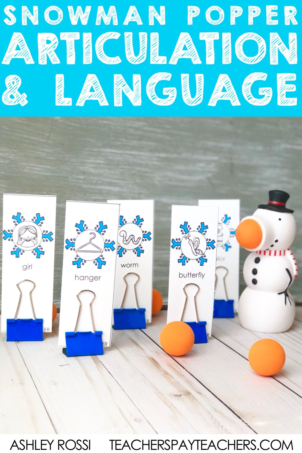 Speech Amp Language Popper Companion Snowman