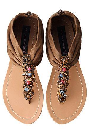 Exotic bijou thong sandals from Steve Madden