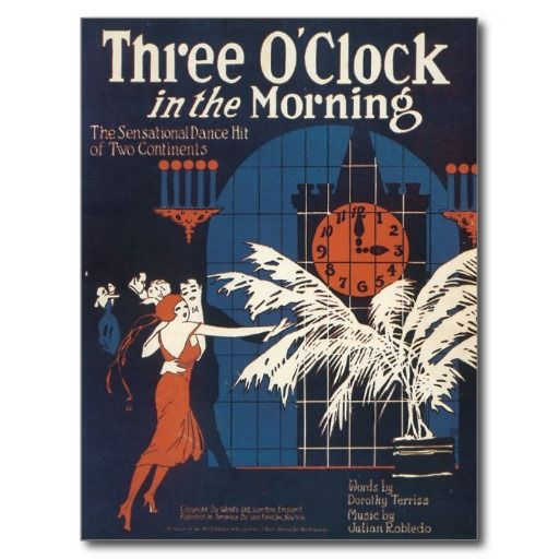 Three Oclock In The Morning Vintage Song Sheet Post Cards Postcards Song Vintage Gifts