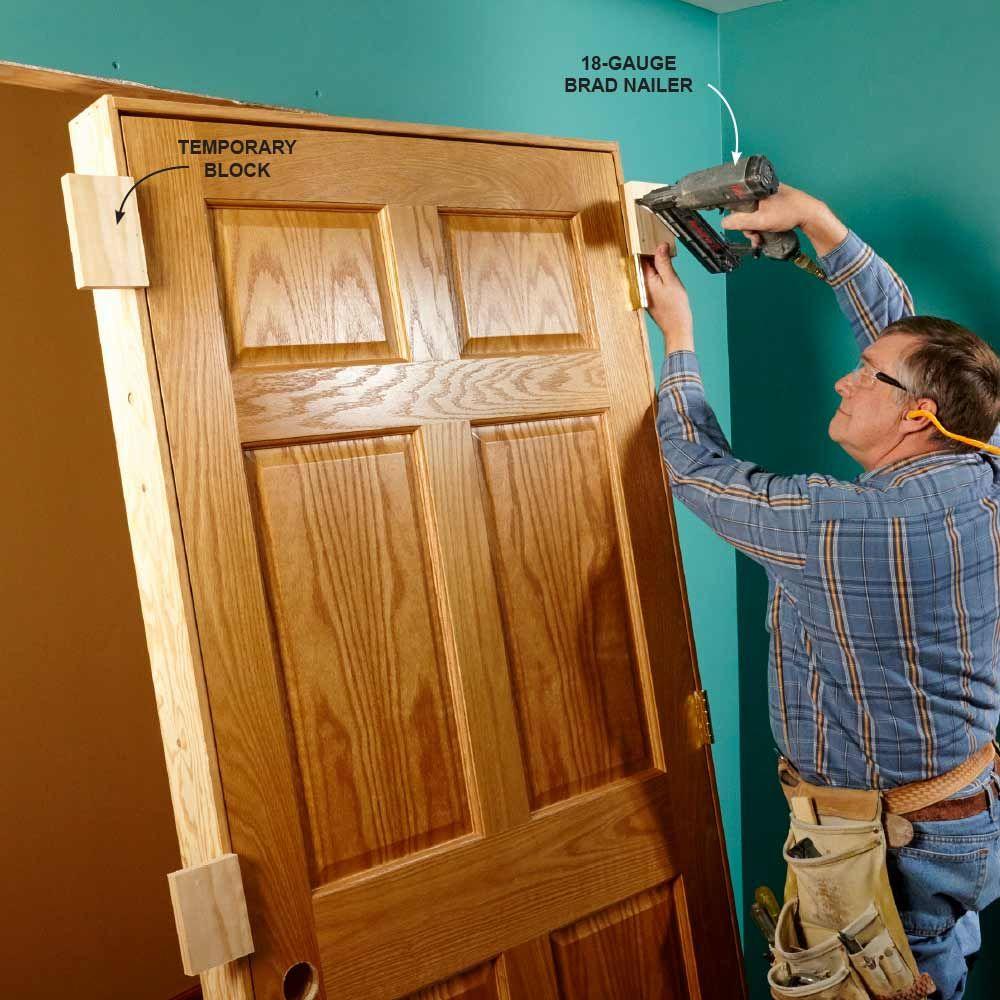 How To Hang An Interior Door Interior Door Installation Prehung Interior Doors Doors Interior