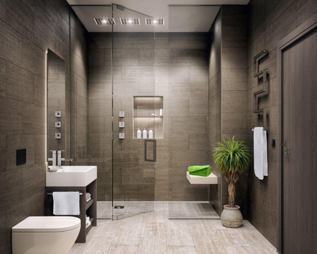 moderno con ducha gris | Diseño de Baños | Pinterest | Diseño de ...