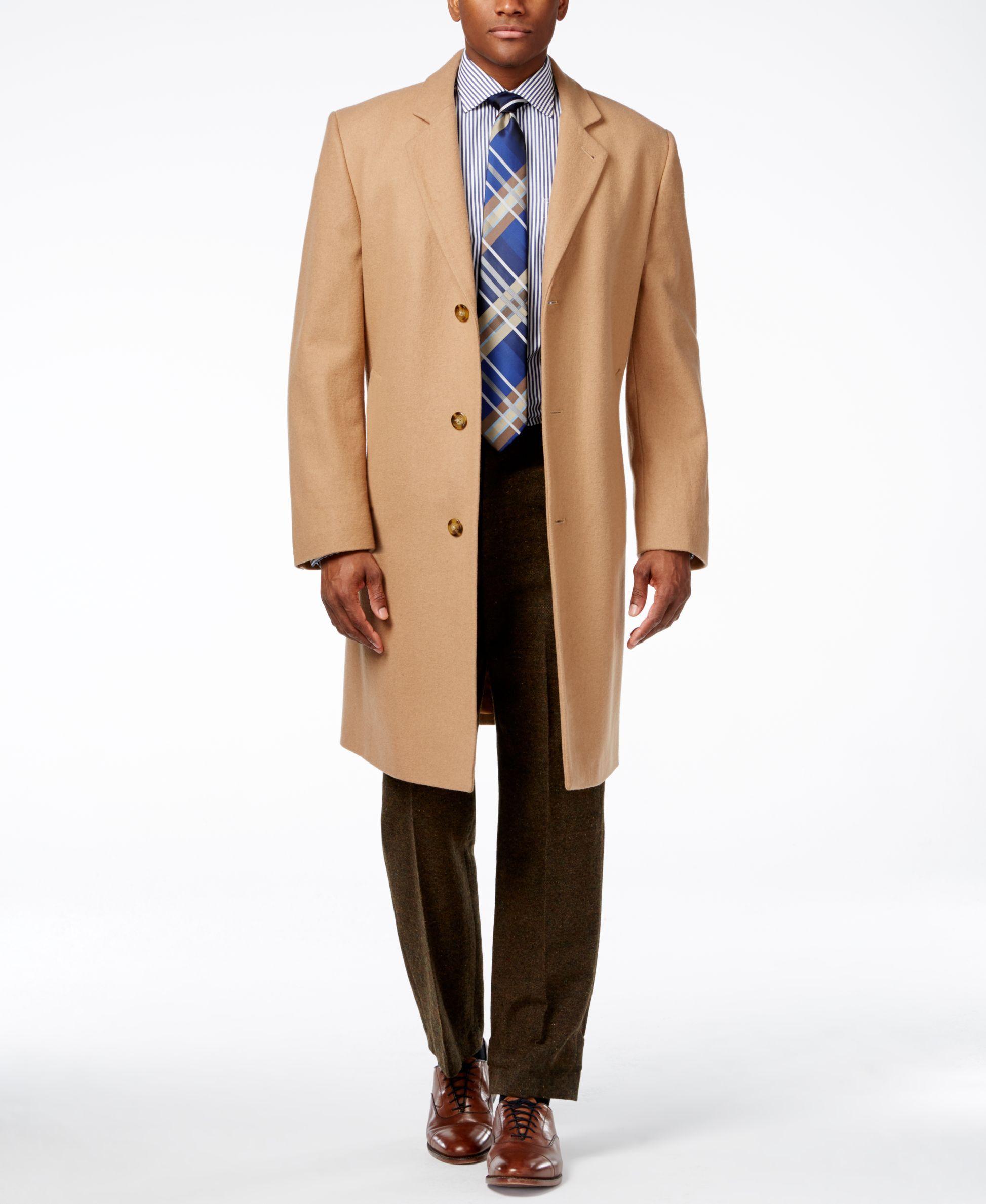 London Fog mens Signature Wool Blend Top Coat Wool Blend Coat