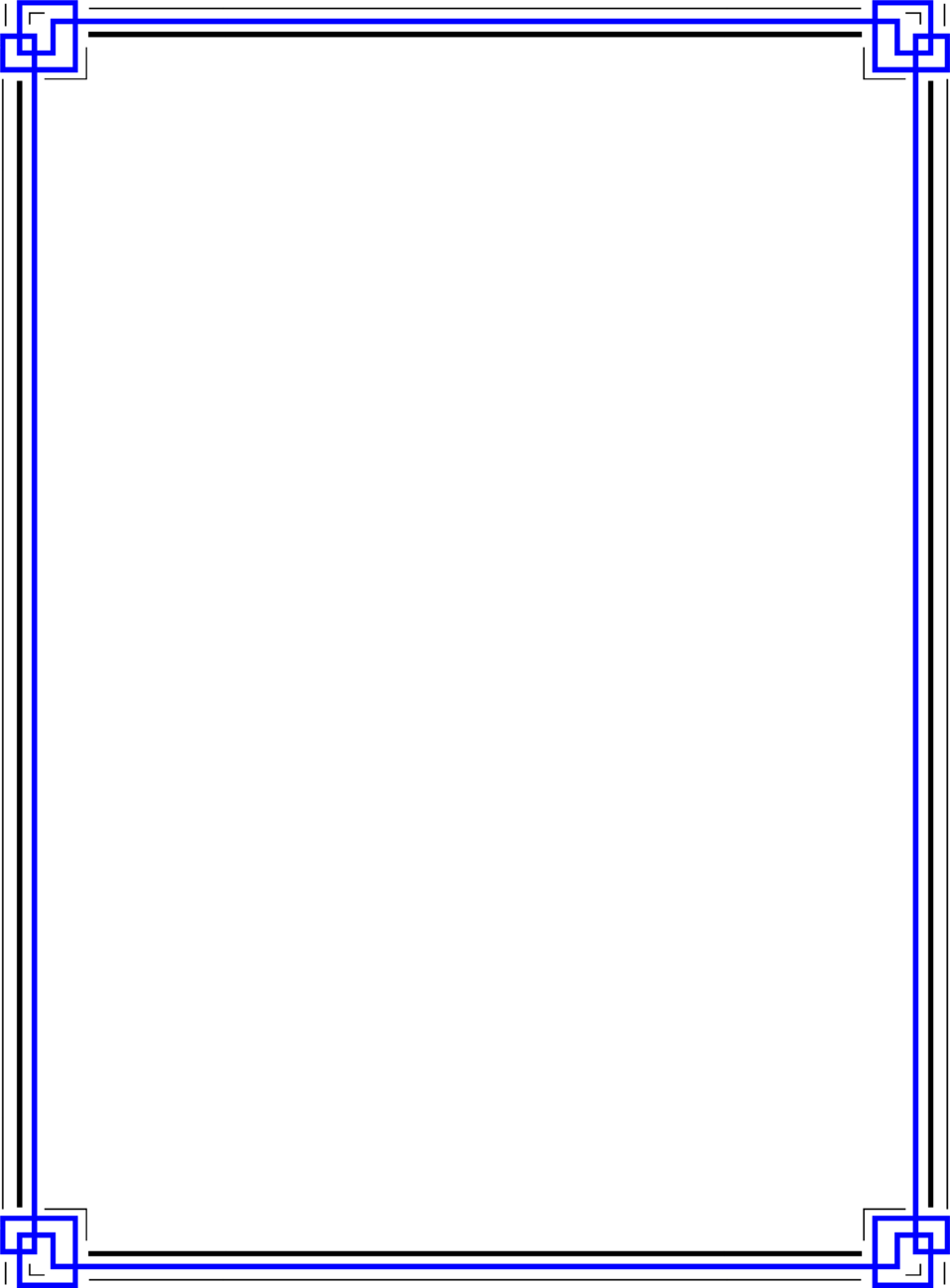 Illustration Of A Blank Blue Frame Border Free Stock Photo
