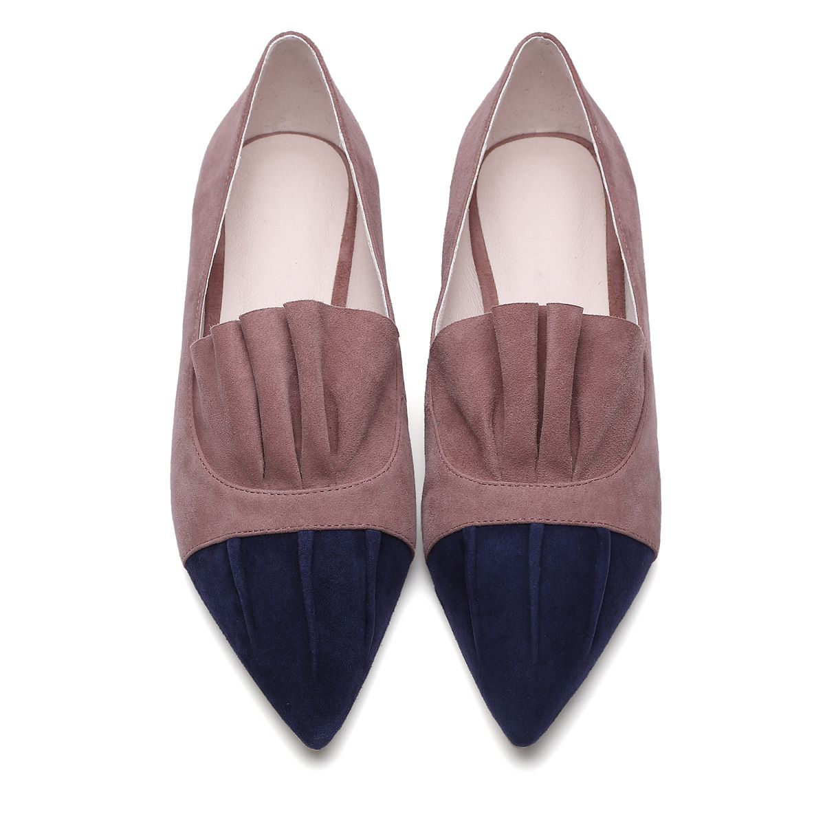 d12bd3d5e 2017 New Leather Sheepskin Pointed Toe Women Flat Shoes Slip on Casual  Ruffles Shoes-in Women's Flats from Shoes on Aliexpress.com   Alibaba Group