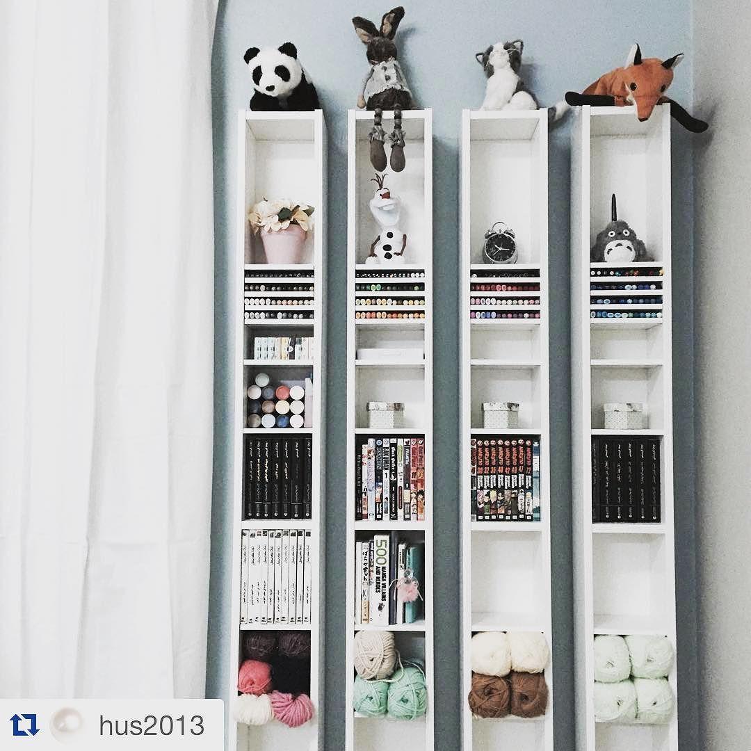 Ikea Saudi ايكيا السعودية On Instagram فكرة تنسيق جميلة وأنيقة باستخدام وحدات الأرفف القابلة للتعديل حسب احتياجك Corner Bookcase Bookcase Home Decor