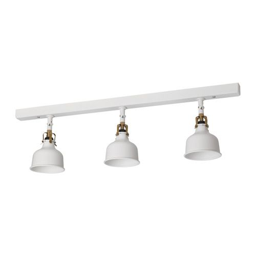 Ranarp Plafondrail 3 Spots Ecru Wit Wonen Ikea Lighting