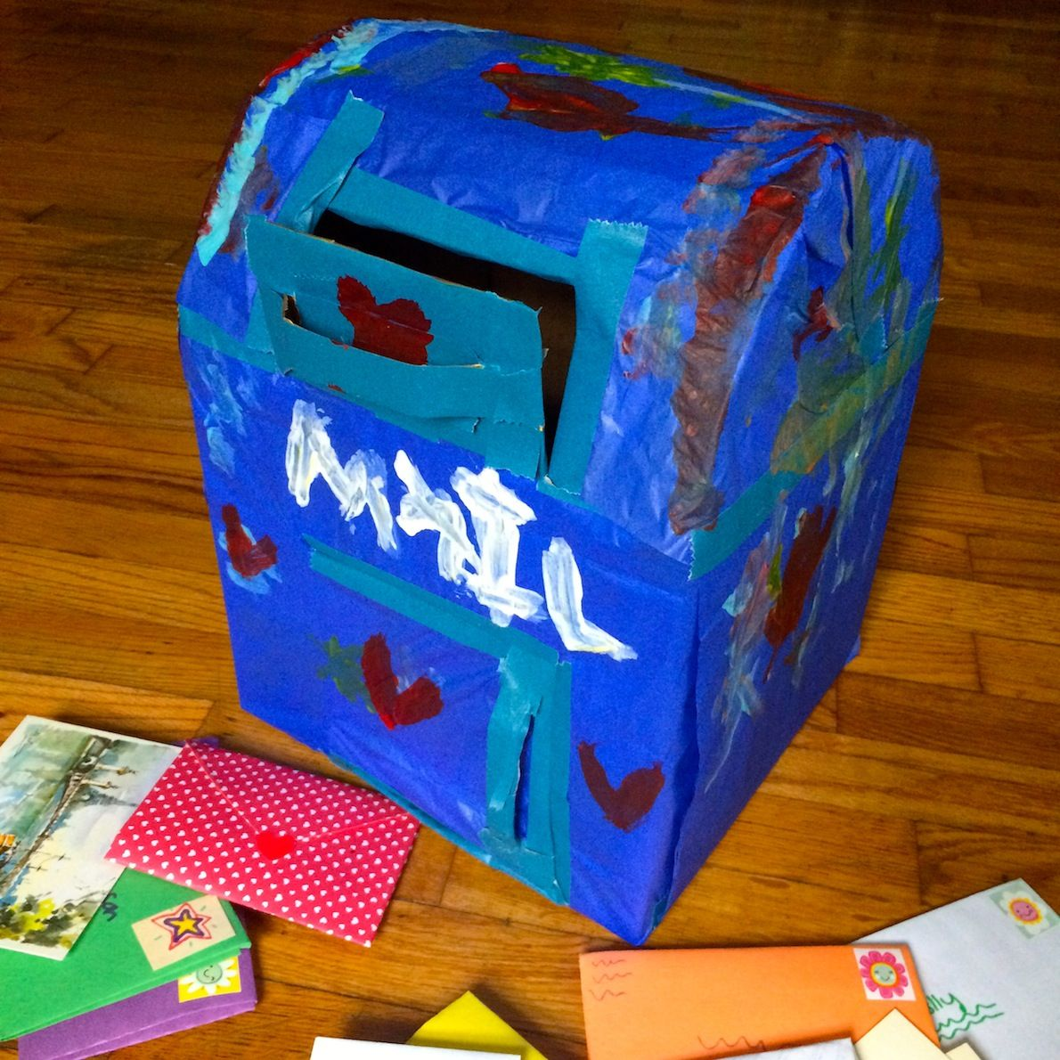 Cardboard Play Mailbox Books And Fun Mail Activities For