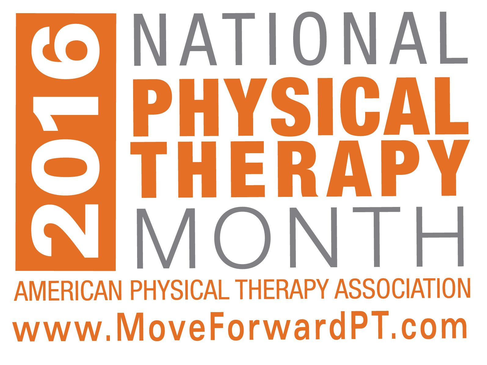 National Physical Therapy Month 2016 Logo Orange (With