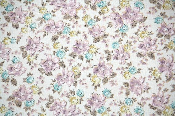 Vintage wallpaper flowers  1950's Vintage Wallpaper - Purple and Aqua floral | Floral Vintage ...