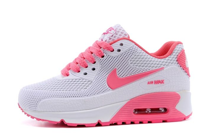 promo code ddaff 38aaf Newest Nike Air Max 90 Kids Shoes Children Sneakers Online Store White Pink