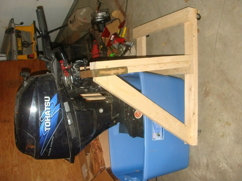 how to build an outboard motor stand