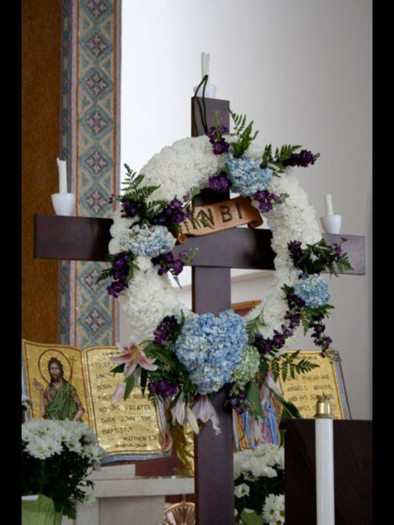 Wreath for Holy Friday service -St  Paul's Greek Orthodox